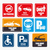 Parking or park zone design Royalty Free Stock Photography