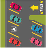 Parking or park zone design Stock Images