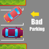 Parking or park zone design Stock Photo