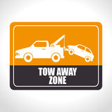 Parking or park zone design Stock Photography