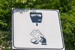 Parking Payment Sign Royalty Free Stock Photography