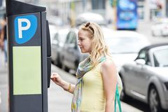 Parking payment Royalty Free Stock Images