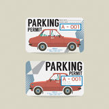 Parking Permit Card. Stock Photos