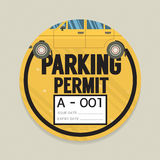 Parking Permit Card. Stock Image