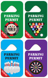 Parking permit for gamblers. Parking permit only for the zone of the gaming business Stock Image