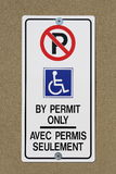 Parking by Permit Only Sign Royalty Free Stock Image