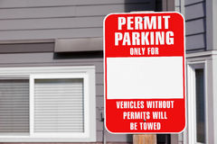 Parking Permit Sign Royalty Free Stock Images