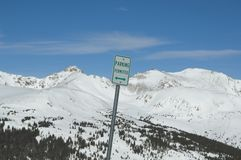 Parking Permitted Colorado high country Royalty Free Stock Images