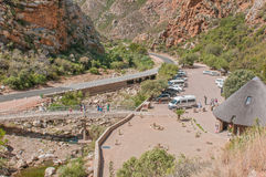 Parking and picnic area in Meiringspoort Stock Photography