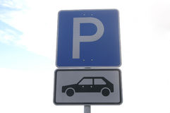 Parking place Stock Images