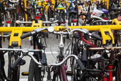 Parking place for bicycles Stock Image