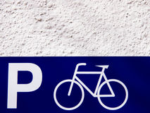 Parking place bicycles (1) Royalty Free Stock Image