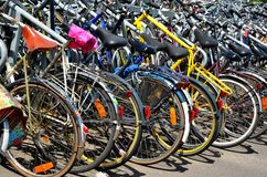 Parking place for bicycles, Gent Royalty Free Stock Photography