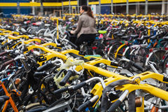 Parking place for bikes Stock Image
