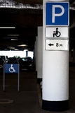 Parking place for disabled people - pointer Stock Photos
