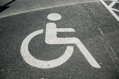 Parking place for the disabled Stock Images