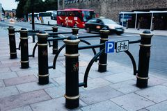 Bicycle parking place Royalty Free Stock Photos