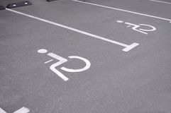 Parking place for invalid person Stock Image