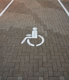 Parking place for invalids Royalty Free Stock Photo