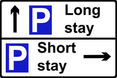 Parking place sign Royalty Free Stock Images