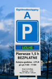 Parking place sign Royalty Free Stock Image