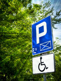 Parking place sign for disabled Stock Images
