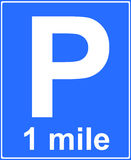 Parking place sign Stock Photography