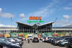 Parking plases against OBI trade center in Khimki city, Moscow Region Royalty Free Stock Photos