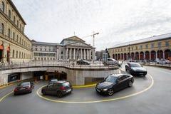 Parking pod kwadratem Obraz Royalty Free