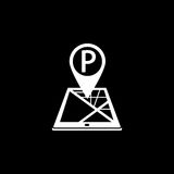 Parking pointer solid icon, mobile gps navigation Stock Photography