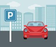 Parking pojęcie w mieszkanie stylu Obraz Royalty Free
