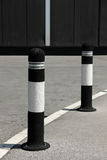 Parking poles on the path Stock Photography