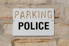 Parking for Police Sign Stock Photography