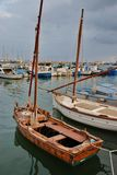 Parking port for yachts in Cambrils Spain. Cambrils the small tourist town grew from the fishing settlement in 17 km from Tarragona and in 4 km to the south of Stock Photo