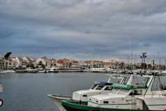 Parking port for yachts in Cambrils Spain Stock Images