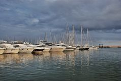 Parking port for yachts in Cambrils Spain Stock Photography