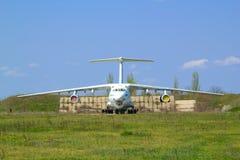 Parking pour des aéronefs Image libre de droits