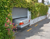 Parking at a Premium on Nelson's Steep Hills. Stock Image