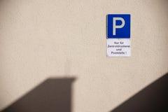 Parking at printing shop royalty free stock photos