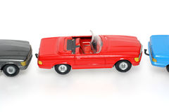 Parking problems?. One of the many thousand  toys my brother is collecting. Tin Mercedes Stock Photo