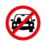 Parking prohibited sign isolated icon Royalty Free Stock Images