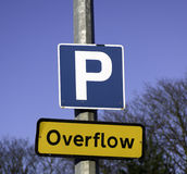 parking przelewu Fotografia Royalty Free
