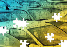 Parking puzzle Stock Photography