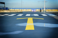 Parking at rainy day. Rooftop parking at cloudy rainy day Royalty Free Stock Photos