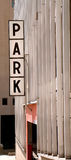 Parking Ramp. An old style park sign on a parking ramp Stock Photos