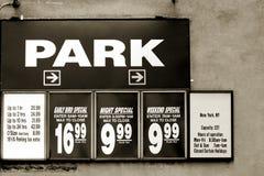 Parking rates stock image