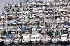 Parking for recreational boats Royalty Free Stock Photography