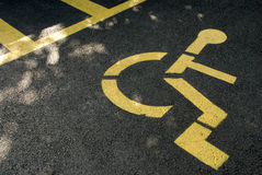 Parking reserved for disabled Royalty Free Stock Photos