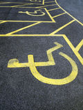 Parking. Reserved parking space for disabled people only Royalty Free Stock Photography