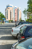 Parking in the resort Sunny Beach in Bulgaria Stock Photo